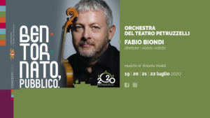 Concerto di Fabio Biondi con l'Orchestra della Fondazione Teatro Petruzzelli